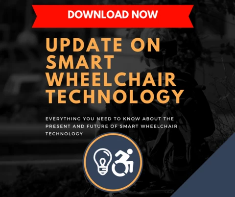 A download now image for the Update on Smart Wheelchair Technology free eBook from Braze Mobility