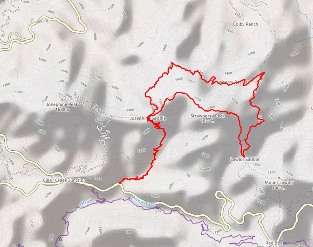 strawberry-peak-trail-map