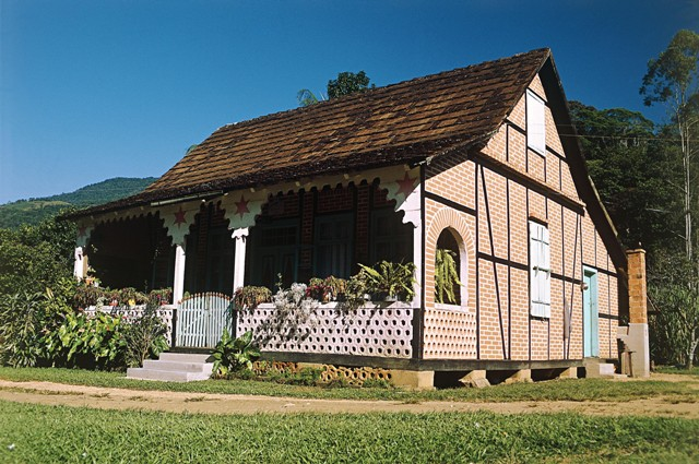 Timber-framed houses- German Achitecture- Pomerode - Santa Catarina