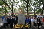 芝加哥華埠孫中山銅像揭幕 感謝中華民國政府協助
