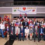 巴西華僑緊急援助志工小組光輝雙十溫暖愛心頌捐贈食物籃給聖保羅地區28個慈善團體