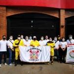 巴拉圭東方市中華會館 年終防疫福袋慰問警消