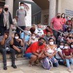 巴西華僑天主教堂發放1100份食品籃