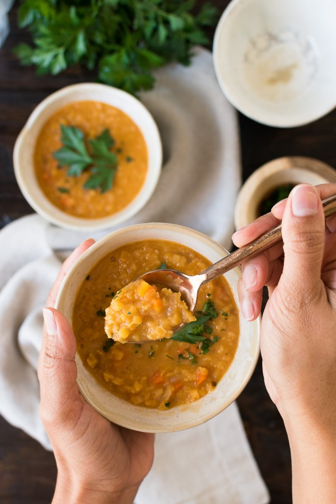 Red Lentil Soup With Coconut Milk
