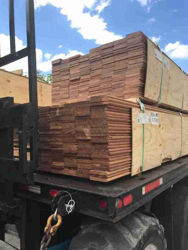 Shipment of Ipe on Truck