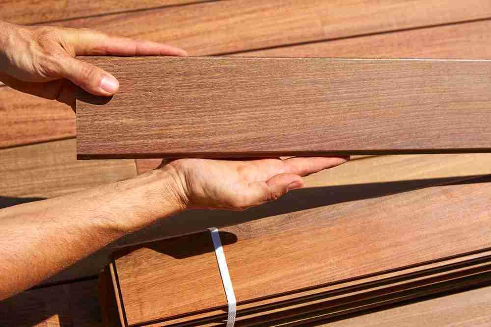 ipe lumber in hands