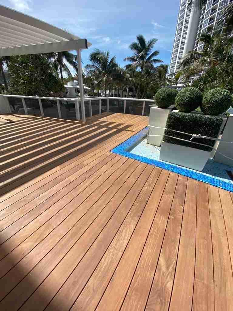 ipe lumber deck at trump tower building