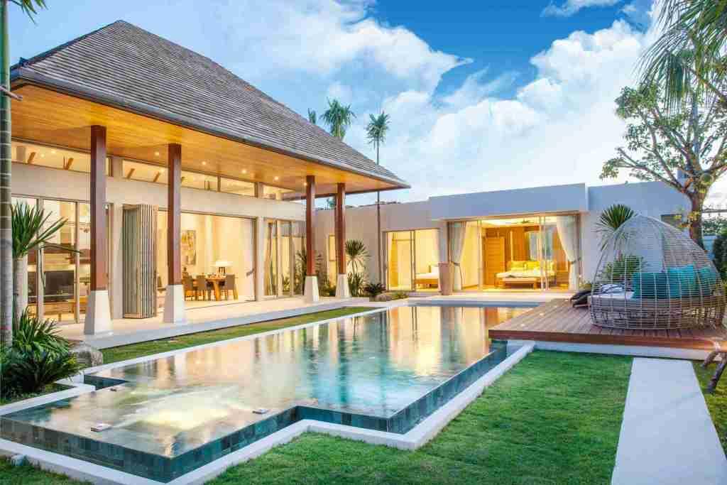 luxury exterior design pool with ipe deck