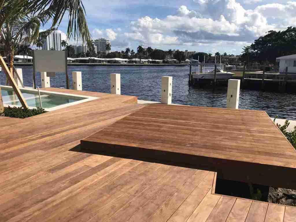 Ipe lumber waterfront