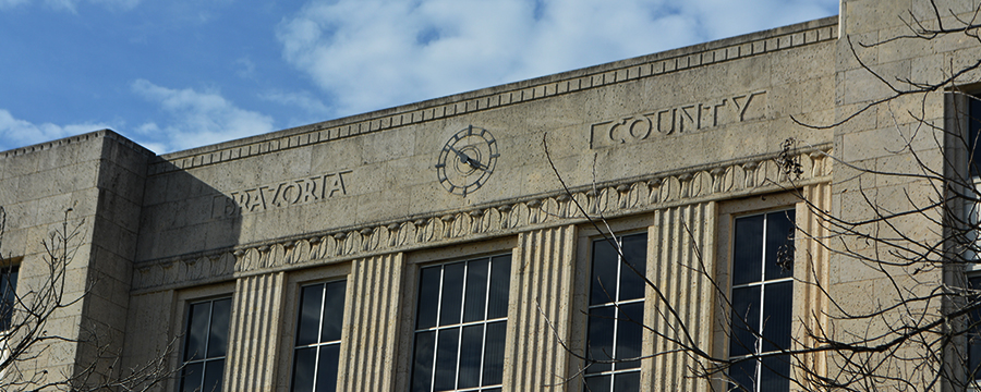 The Brazoria County Courthouse