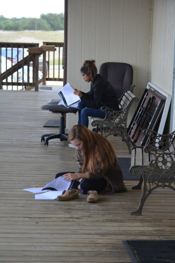 Brazos River Charter School Students Studying