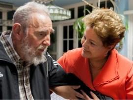 Dilma and Fidel Castro