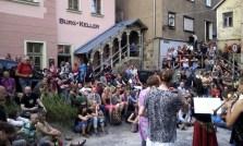 Unser zweites Konzert vorm Burgkeller.