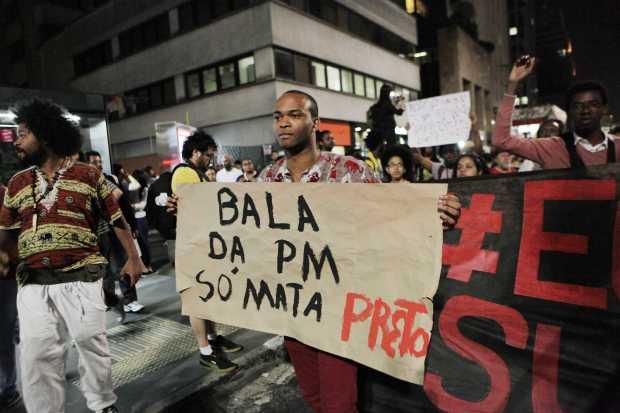 March pro black right. The police bullets only kill blacks - Oswaldo Corneti/Fotos Públicas
