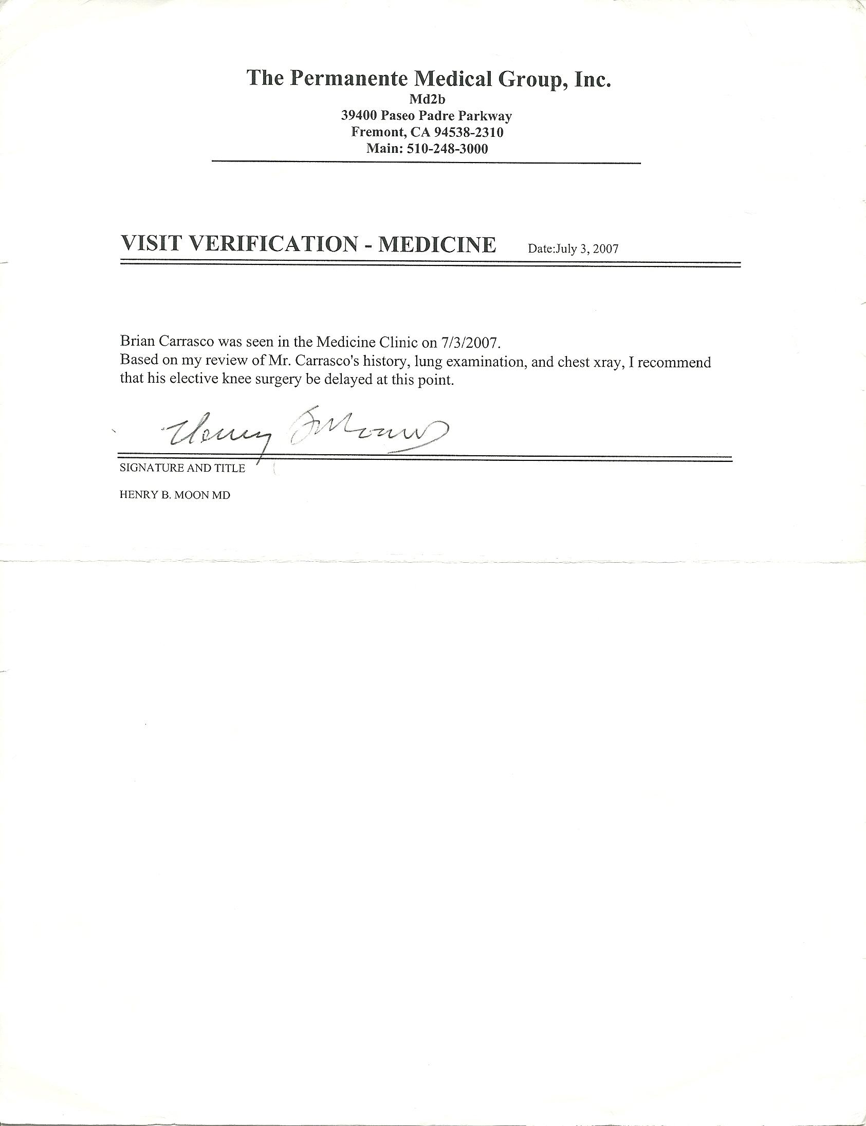 Kaiser Doctors Note Template. kaiser permanente doctors note ...