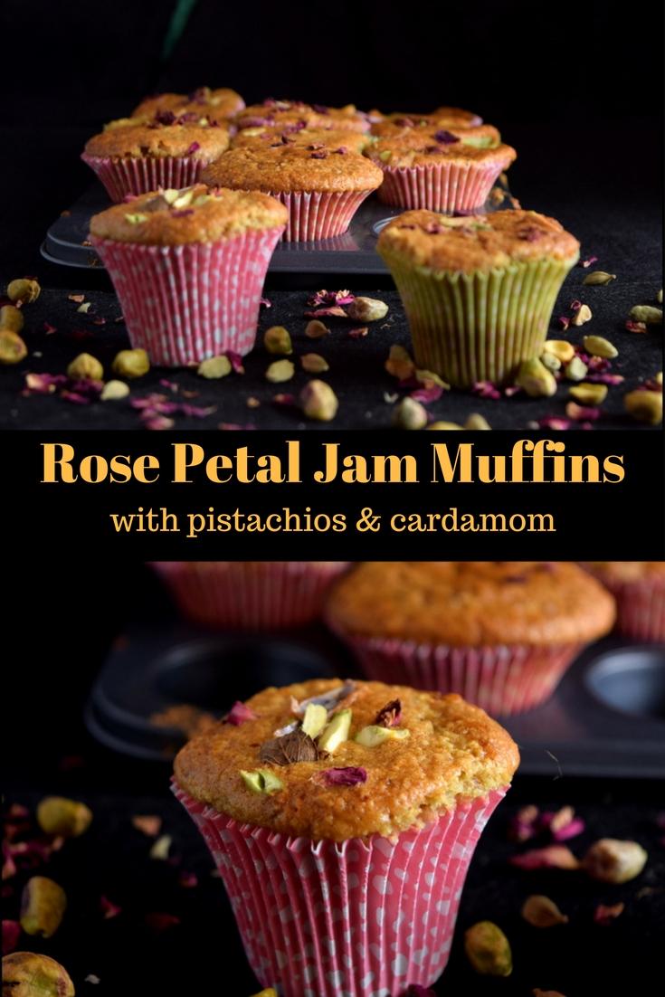 Rose petal jam muffin