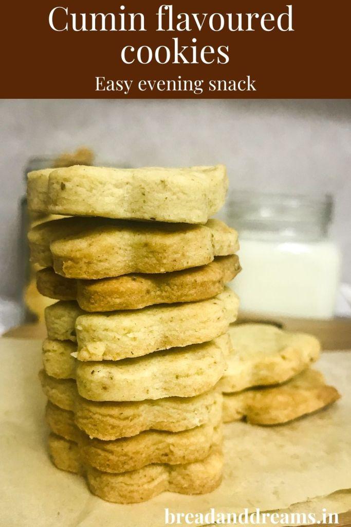 Cumin flavoured cookies