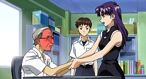 Misato makes old men blush.