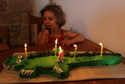 crocodile birthday cake