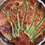 Blue Cheese and Asparagus Quiche