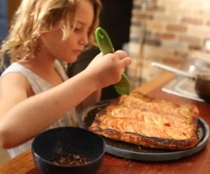 apple tart making