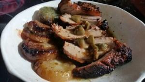 Roti de porc aux pommes