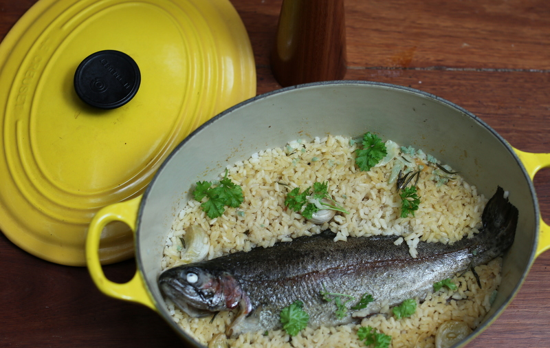 Rainbow Trout Risotto