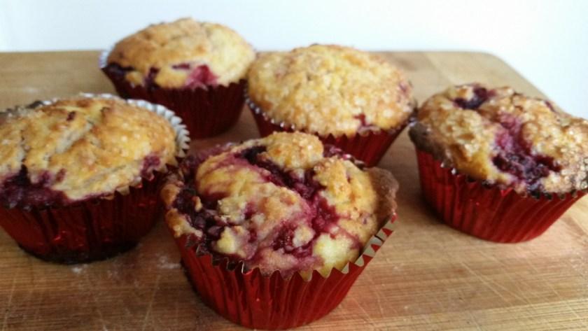 Raspberry & ricotta Muffins