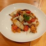 Pulled pork & mushroom risotto