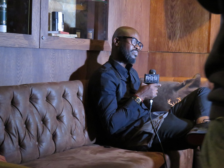 Black Coffee at AXE Black Coffee party doing an interview