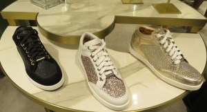 Jimmy Choo Autumn Winter 2017 sparkly sneakers