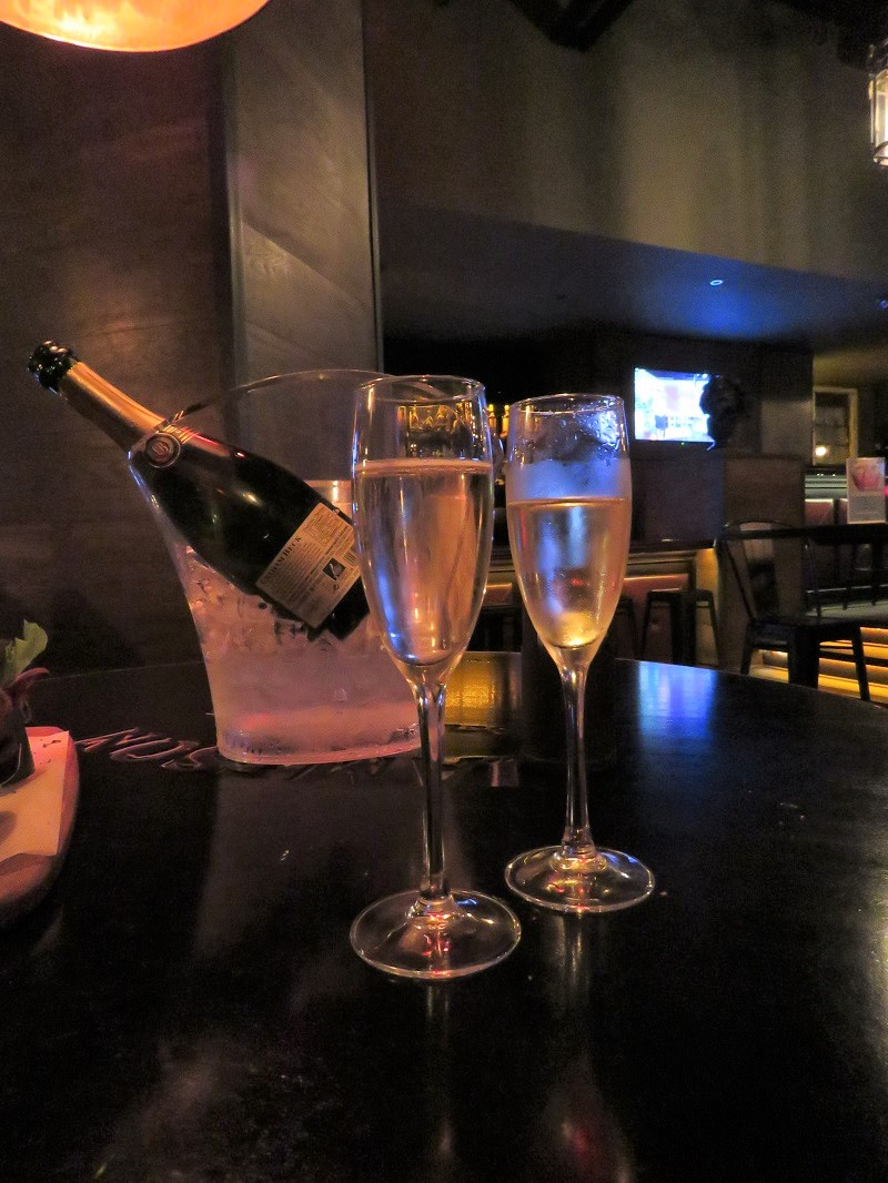 Champagne at Churchills