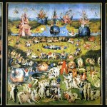 Hieronymous Bosch, The Garden of Earthly Delights 1500-05 Triptych: Central panel 220x195 cm; wings each 220x97 cm, Madrid