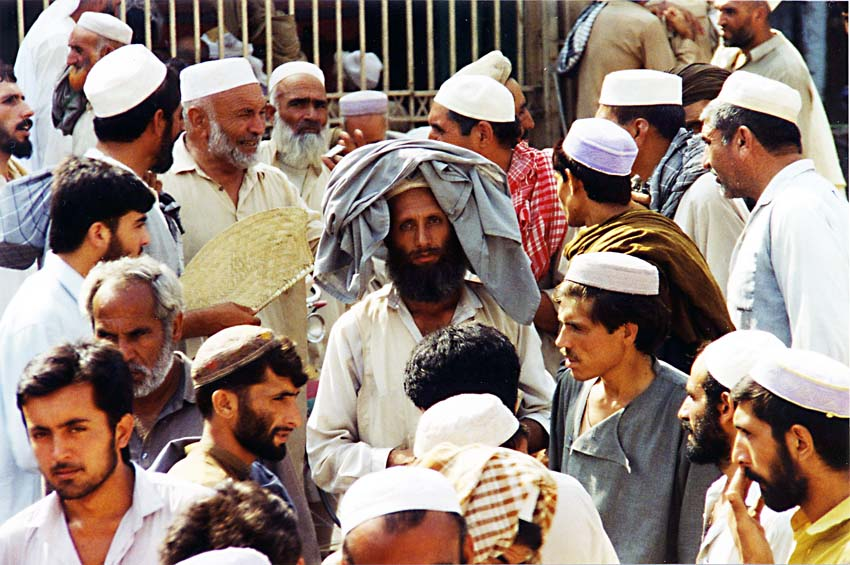 Afghan, Money exchange market, Peshawar Bazaar, 1995
