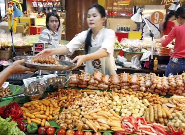 Prepared Food Outside Kad Luang Food Hall