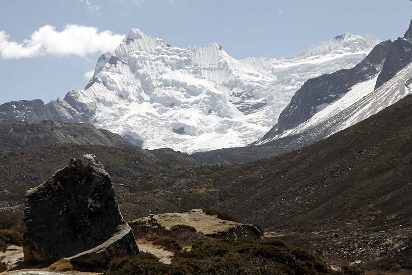 Looking towards Island Peak out of Dingboche