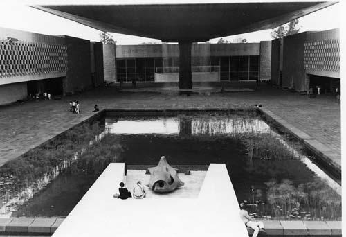 Courtyard National Museum of Anthropology, Mexico City 1974