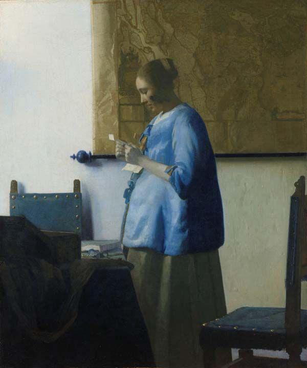 Woman in Blue Reading a Letter 1663, 46.5 x 39 cm, Rijksmuseum, Amsterdam