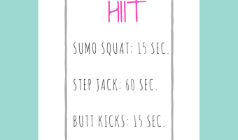 My 15-Minute Beginner HIIT Workout
