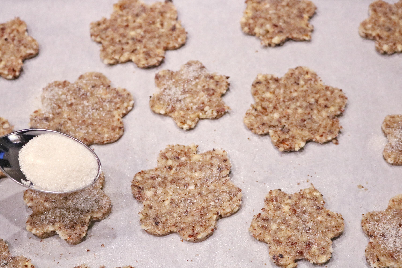 Gluten Free Hazelnut Sugar Cookies
