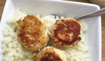 Chicken Meatballs with Riced Cauliflower