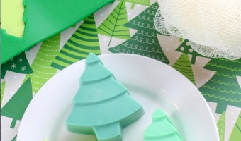 Easy Homemade Melt and Pour Christmas Tree Soap
