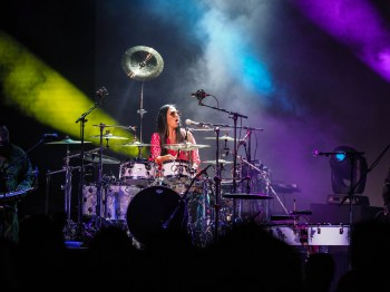 Sheila E.performs in the Iconic Soundstage at Paisley Park during Celebration 2018