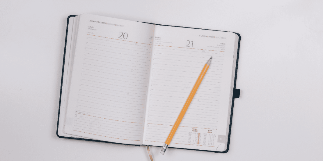 Diary With Pencil