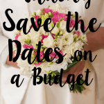save the dates on a budget