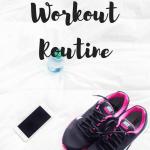establishing a workout routine