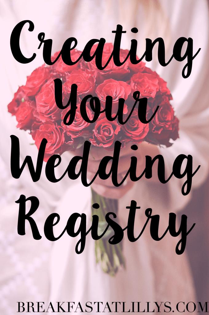 creating your wedding registry