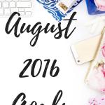 August 2016 Goals