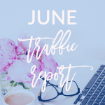 Today I'm sharing my June traffic report + July blogging goals on Breakfast at Lilly's.