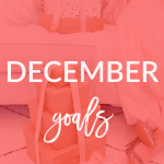 Check out my December goals today on Breakfast at Lilly's.